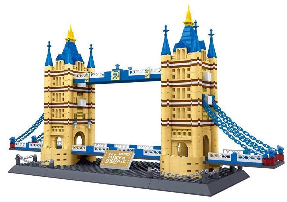 Brigamo 5368013 – Bausteine TOWER BRIDGE von London, 1033 Teile, knapp 1/2 Meter breit, kompatibel mit anderen Bausteinen kaufen