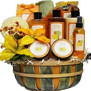 Art of Appreciation Gift Baskets Citrus Splash Spa Bath and Body Set