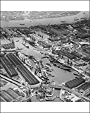 Photographic Print of London Docks 1958 AFL03 aerofilms a71687 from English Heritage