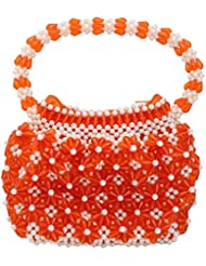Virali Rao Women's Hand-held Bag, Orange And White - B017ITGPXG