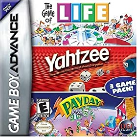 Game of Life, Yahtzee, Payday video game!