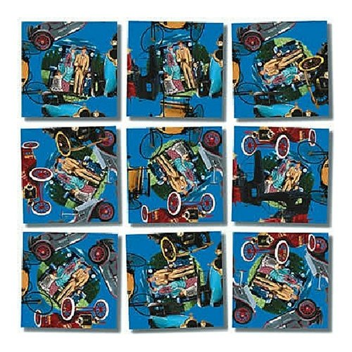 B Dazzle Antique Autos Scramble Squares 9 Piece Puzzle - 1