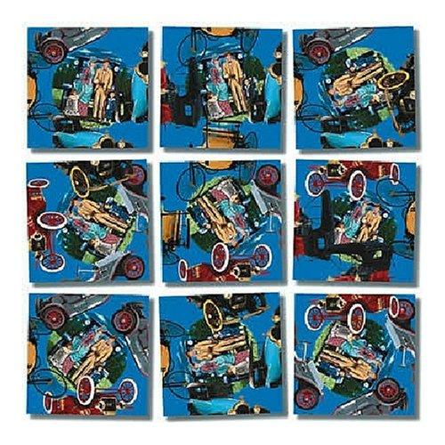 B Dazzle Antique Autos Scramble Squares 9 Piece Puzzle - 1