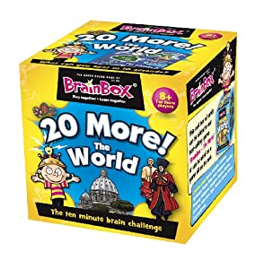 Green Board Games Brainbox 20 More The World Educational Games from Green Board Games
