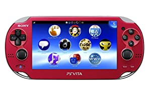 Sony Playstation Vita WiFi 1000 Series OLED Console with 2 Silicon Thumbstick Covers (Renewed) (SoulSacrifie Red) (Color: SoulSacrifie Red)