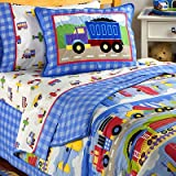 Trains, Planes & Trucks Twin Cotton Bedding Set by Olive Kids
