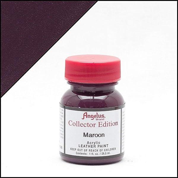 Angelus Collector's Edition Acrylic Leather Paint - 1 Ounce, Maroon (Color: Maroon, Tamaño: 1 Ounce)