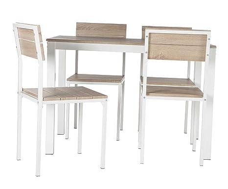 Mesa Xobe Taupe + 4 sillas de PRACTICA SHOPPING