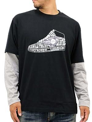 AIRWALK(エアウォーク) Tシャツ フェイクレイヤード プリント メンズ