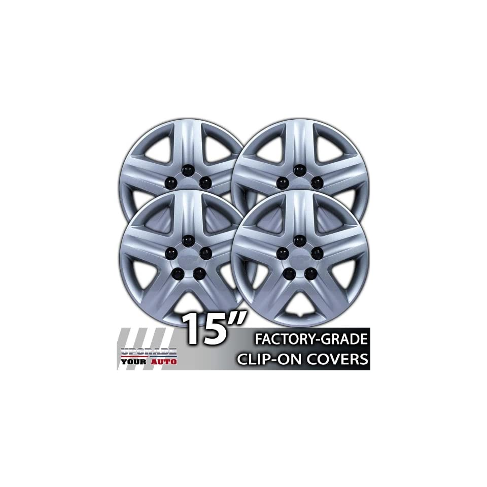 2006 2008 Chevrolet Impala 15 Inch Silver Metallic Clip On Hubcap Covers Automotive