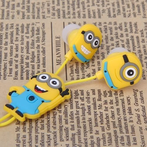 Despicable Me In-ear Minions Headphones Earbuds for Mobile Phone iPad Mp3 Minions