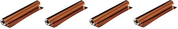 St Louis Crafts 38 Gauge Aluminum Foil - 12 Inches x 25 Feet - Copper Roll Only (F?ur Pa?k) (Tamaño: F?ur Pa?k)