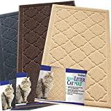 Easyology Premium Cat Litter Mat - XL Super Size - Extra Large Scatter Control Kitty Litter Mats for Cats Tracking Litter Out of Their Box - Soft on Paws- Elegant for Your Home- (Patent Pending)