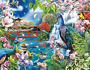 Peacock Garden Jigsaw Puzzle