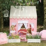 Small Gingerbread Cottage 100% Cotton Embroidered and Appliqued Playhouse