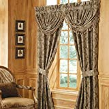 Croscill Home Fashions Marcella Waterfall Swag Valance, 48 x 33-Inch, Taupe, Floral
