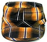 Cadet Hats Fashion Caps - Plaid Orange & Black