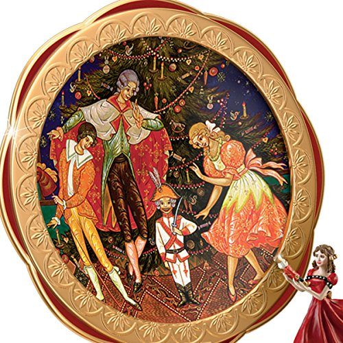 Clara And The Nutcracker Heirloom Porcelain Music Box with Russian Style Art by The Bradford Exchange 1