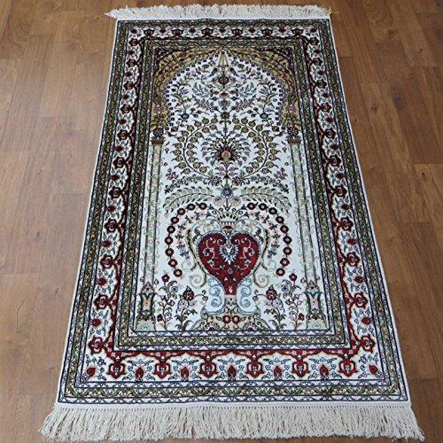 3'x5' Tree of Life Hand Knotted Persian Carpet Nice Handmade Silk Area Rugs