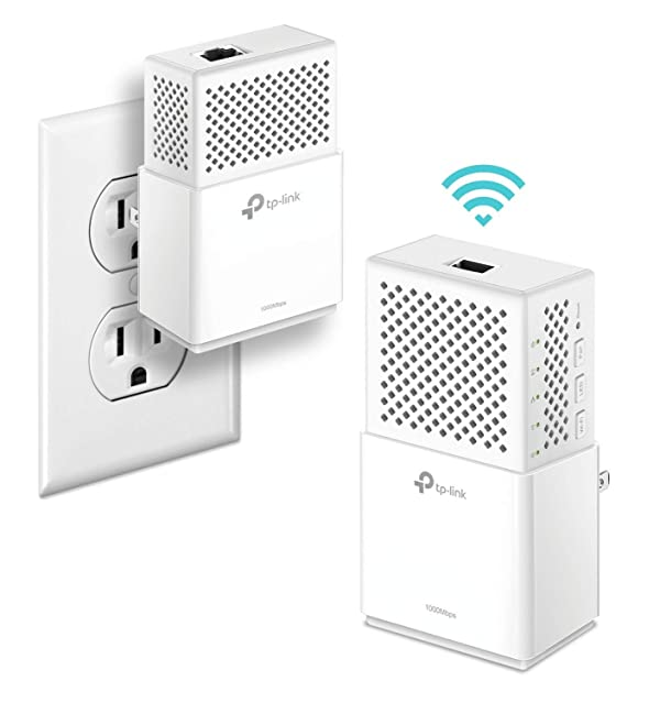 TP-Link AV1000Mbps Powerline WiFi Extender - Gigabit Port, Noise Suppression Design, Plug&Play, Power Saving(TL-WPA7510 KIT) (Renewed) (Color: white, Tamaño: AC750)