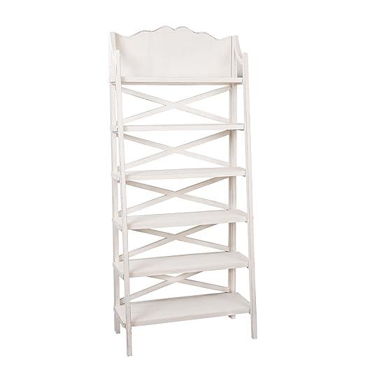 4H0338W Clayre & Eef - Scaffale - Bianco ca. 80 x 40 x 190 cm