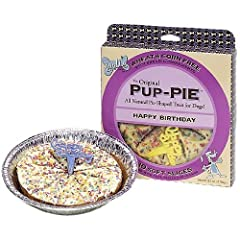 Lazy Dog Happy Birthday Peanut Butter and Pumpkin Pup-Pie Dog Treat 6 oz