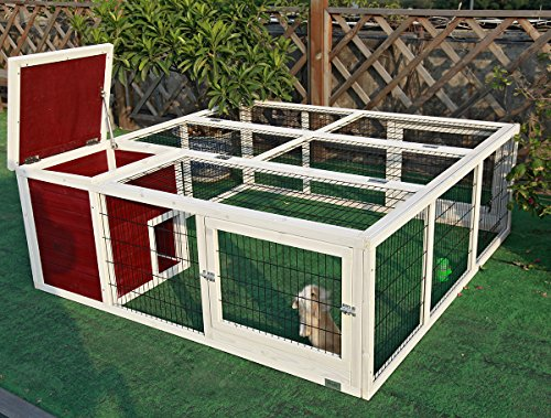 Petsfit-638-LX-634W-X-236H-Outdoor-Rabbit-Hutch-OutdoorChicken-Coop