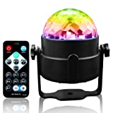 Disco Ball LED Light Sound Activated Party Light Strobe Party 3W Light with Remote Control for Stage/ DJ / Bar /Club /Karaoke