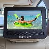 "DBPOWER 7""-7.5"" Car Headrest Moust Holder Strap Case for Swivel & Flip Style Portable DVD Player"