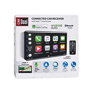 Dual 7 Double Din Mechless Digital Media Receiver with Apple CarPlay Android Auto