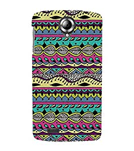 Wonderful Abstract Pattern 3D Hard Polycarbonate Designer Back Case Cover for Lenovo S820
