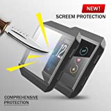 UBOLE Fitbit Ionic Screen Protector Case, Scratch-resistant Flexible Lightweight Plated TPU FullBody Protective Case for Fitbit Ionic Smart Watch (BLACK) (Color: Black)