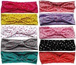 Qandsweet Baby Headwrap Top Knot Headbands Girl Turban Hairband