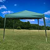 Deluxe Green 3x3 Heavy Duty Pop Up Gazebo with Walls Windows|Canopy Wedding Party Tent Waterproof