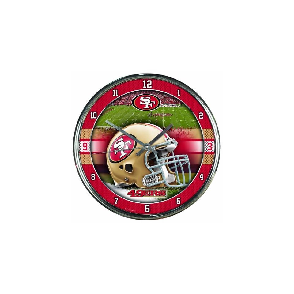 NFL San Francisco 49ers Chrome Clock, 12 x 12