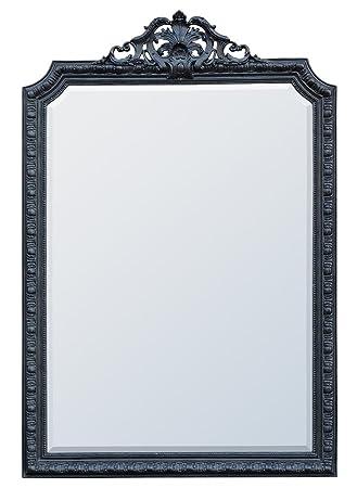 DUSX Corelia French Rococo Mirror, Black