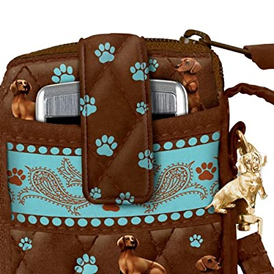 Loving Companion Dog-Themed Cell Phone And Card Holder Wristlet by The Bradford Exchange