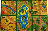 Toy - Giant Wild Animal Safari Playmat (150x100cm) - superb habitats for all your toy animals!