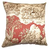 The Pillow Collection Feramin Toile Redwood Back Pillow, 20