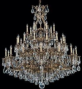 Schonbek 6967 59A Sophia 35 Light Large Foyer Chandelier In Ferro Black With