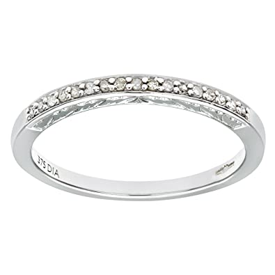 Naava Ladies 9ct White Gold Diamond Eternity Ring