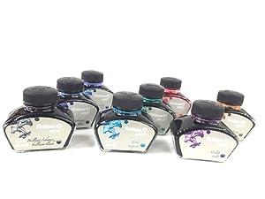 Pelikan 4001 Bottled Ink for Fountain Pens, Brilliant Black, 62.5ml, 1 Each (329144) (Color: Brilliant Black, Tamaño: 62.5ml)