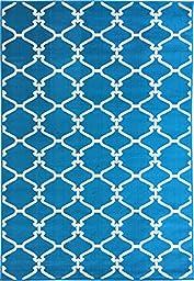 Sweet Home Stores Clifton Collection Blue Moroccan Trellis Design (5\' X 7\') Area Rug