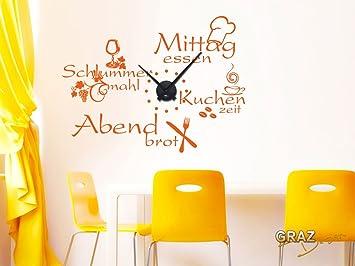 Graz Design 800396 Bk 070 Wandtattoo Uhr Wanduhr Mit Uhrwerk Kuche
