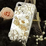 3d Bling Crystal Cinderellas pumpkin cart stone case for iphone 4/4s best gift for girl