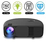 1080P HD LED Video Projector, Weton 3500 Lumens Video Projector Portable Home Projector Mini Home Theater Movie Projector Support HDMI USB VGA Amazon Fire TV for Office Home Cinema Games Party (Color: CL760)