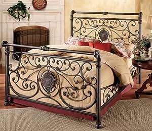 Hillsdale Furniture 1039BQR Mercer Bed Set with Rails, Queen, Antique Brown