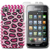 MYNC Diamonds Leopard Spots Plastic Case Cover For Nokia C3-00 + Screen Protector / Yellow / Black / Gold