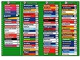 Doowell Activity Charts T-2401 - Pizarra magnética con equipos de fútbol ingleses