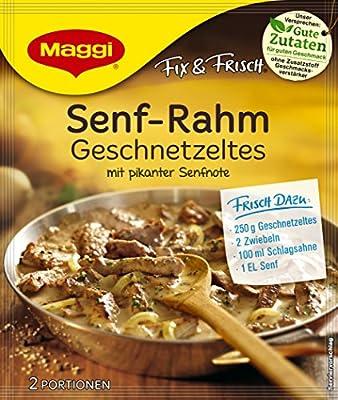 Maggi Fix und frisch für Senf-Rahm Geschnetzeltes, 11er Pack (11 x 31 g) von Maggi - Gewürze Shop